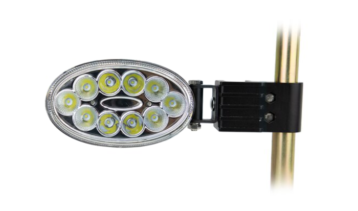 Owalna lampa robocza boczna 10 LED 30W
