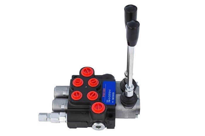 Rozdzielacz hydrauliczny P40 2 dwusekcyjny 40 L