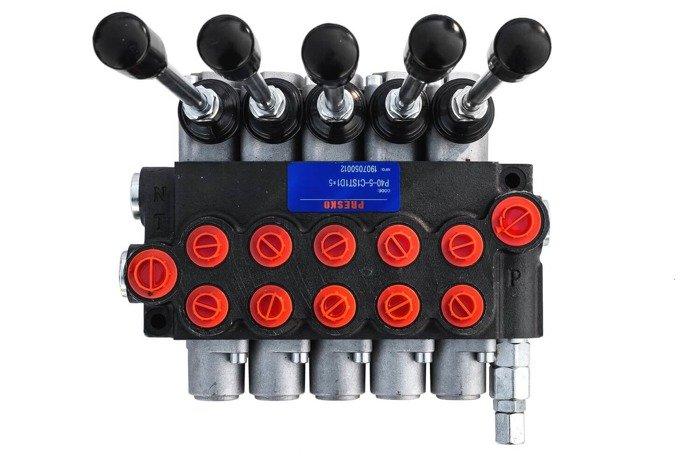 Rozdzielacz hydrauliczny P40 5 sekcyjny 40 L